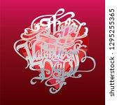illustration poster valentines... | Shutterstock .eps vector #1295255365