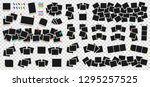 mega pack of realistic photo... | Shutterstock .eps vector #1295257525