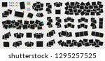 mega pack of realistic polaroid ... | Shutterstock .eps vector #1295257525