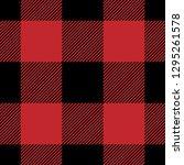 red   black buffalo check... | Shutterstock .eps vector #1295261578
