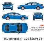 blue car vector mockup for... | Shutterstock .eps vector #1295269615