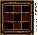 baroque striped vector pattern... | Shutterstock .eps vector #1295277475