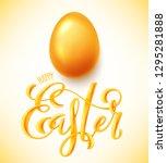 happy easter poster | Shutterstock . vector #1295281888