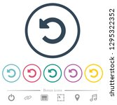 undo changes flat color icons... | Shutterstock .eps vector #1295322352