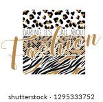 it's all about fashion  cool... | Shutterstock .eps vector #1295333752