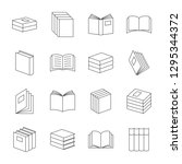 books thin line icons vector....   Shutterstock .eps vector #1295344372
