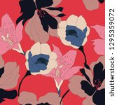 beautiful seamless floral... | Shutterstock .eps vector #1295359072