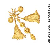 tassel and ornament pattern | Shutterstock . vector #1295369065