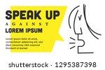 speak up ad template. woman... | Shutterstock .eps vector #1295387398