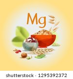 magnesium in food. natural... | Shutterstock .eps vector #1295392372