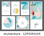 set of creative universal...   Shutterstock .eps vector #1295394145