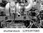 close up of the mechanics of a... | Shutterstock . vector #1295397085