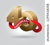 40 anniversary gold numbers... | Shutterstock .eps vector #1295418358