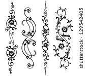 vector set swirling elements... | Shutterstock .eps vector #129542405