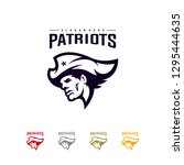 patriots logo design vector....   Shutterstock .eps vector #1295444635