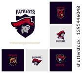 set of patriots logo design... | Shutterstock .eps vector #1295446048