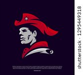 patriots logo design vector.... | Shutterstock .eps vector #1295449318