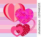 valentine's day  heart ... | Shutterstock .eps vector #1295468155