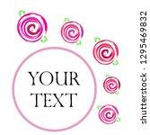 valentine's day  rose  flower ... | Shutterstock .eps vector #1295469832