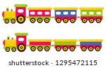 cartoon cute train and railway... | Shutterstock .eps vector #1295472115