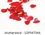 rose petals background | Shutterstock . vector #129547346