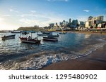 scenic afternoon view of... | Shutterstock . vector #1295480902