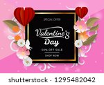 valetine's day discount with... | Shutterstock .eps vector #1295482042