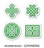 celtic knots patterns   vector   Shutterstock .eps vector #129548582