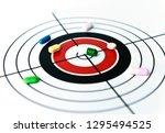 drug target identification and... | Shutterstock . vector #1295494525