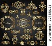 vector set of floral elements... | Shutterstock .eps vector #129550136