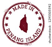 made in penang island stamp.... | Shutterstock .eps vector #1295505592