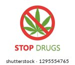 stop drugs icon vector... | Shutterstock .eps vector #1295554765