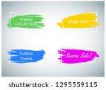trendy banner design set...   Shutterstock .eps vector #1295559115