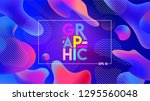 colorful geometric background.... | Shutterstock .eps vector #1295560048