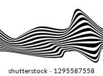 black and white curved line ... | Shutterstock .eps vector #1295587558