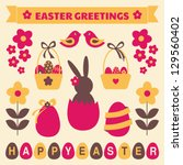 a set of cute easter design