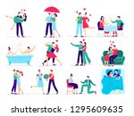 couples in love. love couple on ... | Shutterstock .eps vector #1295609635