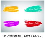 trendy banner design set... | Shutterstock .eps vector #1295612782