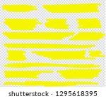 highlighter brush set. vector... | Shutterstock .eps vector #1295618395