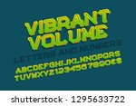 vibrant volume letters with... | Shutterstock .eps vector #1295633722
