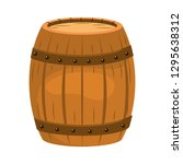 wooden barrel cartoon | Shutterstock .eps vector #1295638312