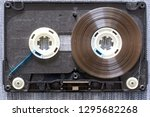 disassembled audio cassette... | Shutterstock . vector #1295682268