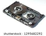 disassembled audio cassette... | Shutterstock . vector #1295682292