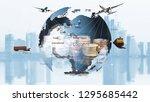 transportation  import export... | Shutterstock . vector #1295685442