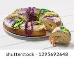 King Cake On A White Board...