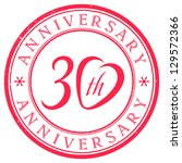 30 years anniversary stamp | Shutterstock .eps vector #129572366