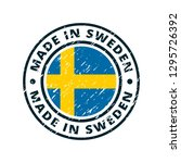 made in sweden label... | Shutterstock .eps vector #1295726392