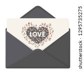 vector love icon envelope with... | Shutterstock .eps vector #1295735275