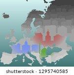 modern europe religions... | Shutterstock .eps vector #1295740585