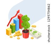 investment  development and... | Shutterstock .eps vector #1295754862